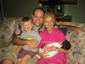 The kids and I with Mor Mor in 2005