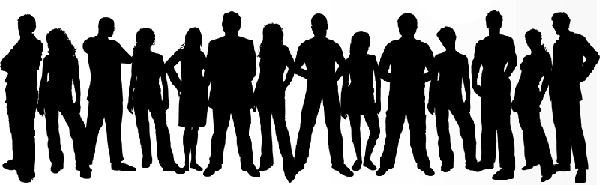 Image result for teens silhouette