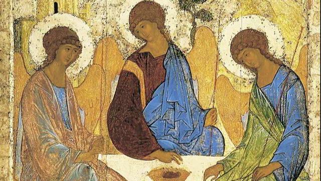 Andrei Rublev - Trinity Icon, 15th Century, Tretyakov Gallery, Moscow, Russia