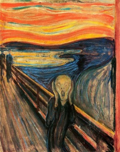 """Edvard Munch """"The Scream"""" Oil, tempra and pastel on cardboard, 1893. National Gallery Oslo, Norway"""
