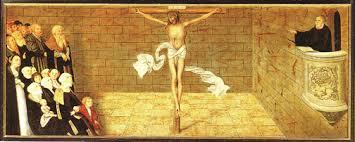 """Lucas Cranach, """"Altar Piece in Wittenberg"""""""