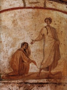 Jesus.heals.woman.rome.catacomb